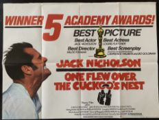 Cinema Poster:One Flew Over the Cuckoo's Nest, [1975] directed by Milos Forman, starring Jack