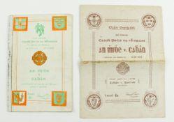 Meath V. Cavan (& Replay) 1952G.A.A.: Football, 1952, Clár Oifigiúil Craobh Peile na hEireann, Croke