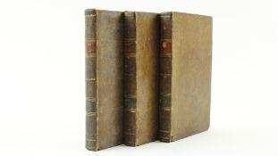 Locke (John)An Essay ConcerningHuman Understanding, 3 vols. 12mo, Edin. 1801. Cont. tree calf,