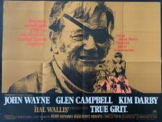 Cinema Poster:True Grit, [1969] directed by Henry Hathaway, starring John Wayne, Glen Campbell,