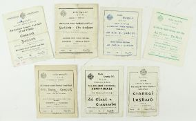 G.A.A.: Football [All Ireland Championship Semi-Finals] 1950's, a collection of 7 Official Match