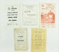 G.A.A.: Hurling & Football 1960's / 70's, a collection of five Match Programmes to include:(a) N.H.