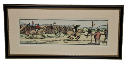 """After Jack B. YeatsCuala Press: """"The Strand Races,"""" a pair, mounted and in hogarth type frames. (2)"""