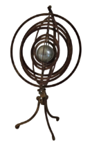 "A modern brass Armillary Desk Globe,on tripod base, approx. 53cms (21"")high. (1)"