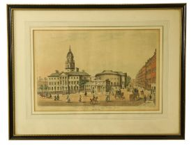 Samuel F. Brocas (1792 - 1847)A fine rare set of 9 original hand coloured Engravings of Dublin,