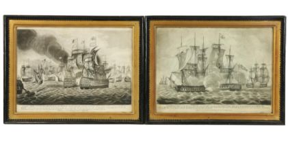 """A pair of early MaritimeEngravings, published May 5th, 1795 by John Fairburn, London;""""A"""