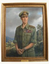 "P. Sandra - 20th Century English School""Admiral Lord Louis Mountbatten, Supreme Allied Commander,"