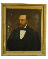 """Late 19th Century Welsh SchoolHalf-length """"Portrait of Gentleman with beard, and wearing gold"""