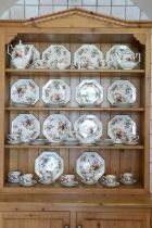 An attractive large Tea & Coffee Service, by Johnson Bros., comprising approx. 65 pieces,