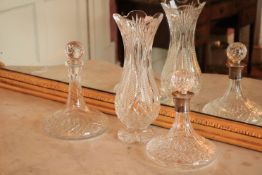 A silver mounted Waterford crystal Ships Decanter and Stopper, together with a Clarinbridge Ships