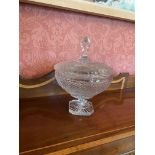 A heavy Dublin crystal Presentation stemmed Bowl and cover, (Smurfit European Open Pro-Am 1996