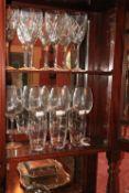 A set of 4 heavy John Rocha Waterford crystal Wines, together with another set of 4 John Rocha Wines