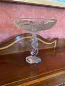 A fine Waterford crystal Fruit Comport, on circular sea-horse stem 12'' x 11'' (30cms x 28cms). (1)