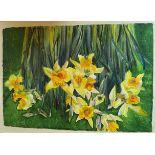 21st Century Irish School Still Life, ''Daffodils,'' signed, 28'' x 41'' (71cms x 104cms),