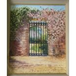 Harrie McManus, 21st Century ''The Courtyard Gate at Osberstown House,'' O.O.P., 10'' x 8'' (25cms x