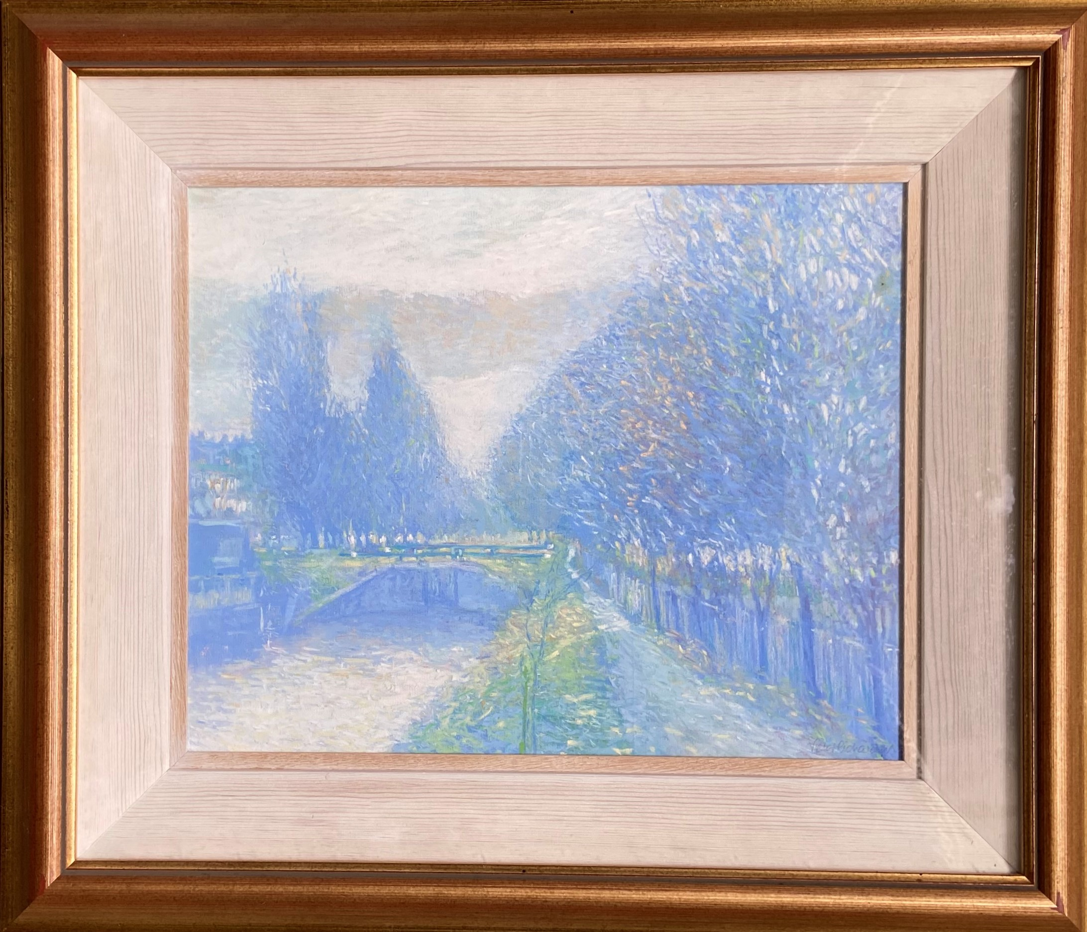 Victor Richardson (1952) ''Dusk on the Liffey'' and ''Dock Gates from Baggot St., Bridge,'' a - Image 2 of 6
