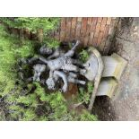 A bronze Fountain or Garden Group, modelled with three frolicking cherubs, 42''h x 36''w (106cms x