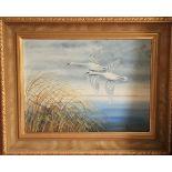 Ferris, 21st Century ''Swans in Flight over Marshland,'' and its companion ''Ducks in Flight,'' both