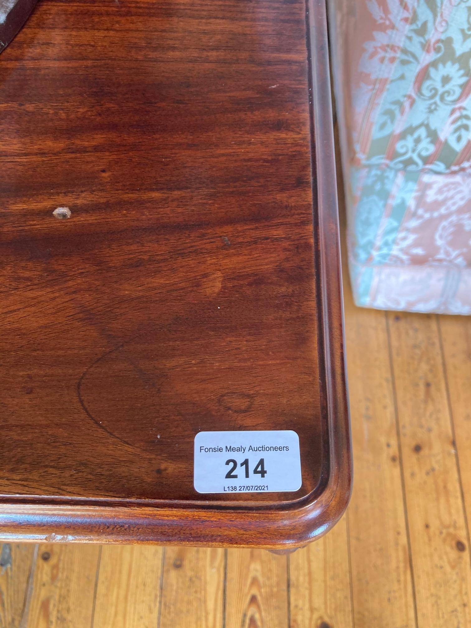 A rectangular mahogany Occasional Table, the moulded top above four greyhound heads on cabriole legs - Image 5 of 5