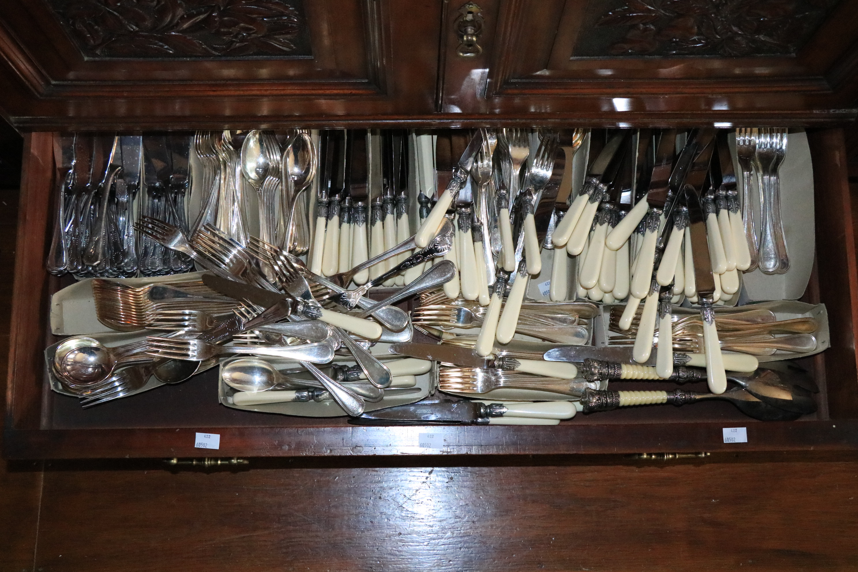 A large collection of various Newbridge Cutlery, including faux bone handled knives, plated forks, - Image 2 of 2