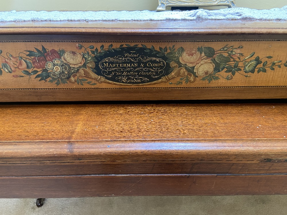 A Regency period Spinet, adopted with the label of Maslerman & Co., London, now with one long and - Image 2 of 2