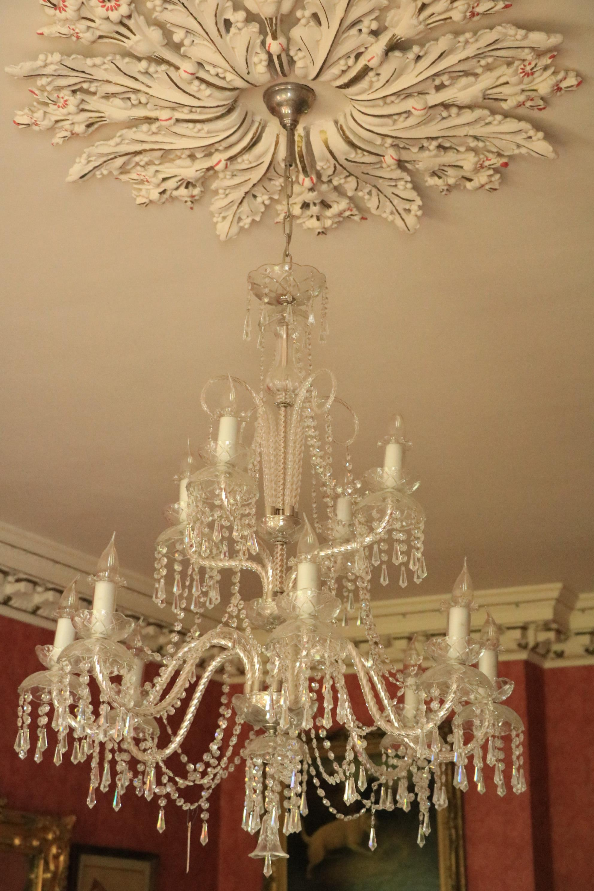 An extremely attractive twelve branch crystal Chandelier, with 8 lower arms and 4 upper arms, with - Image 2 of 2