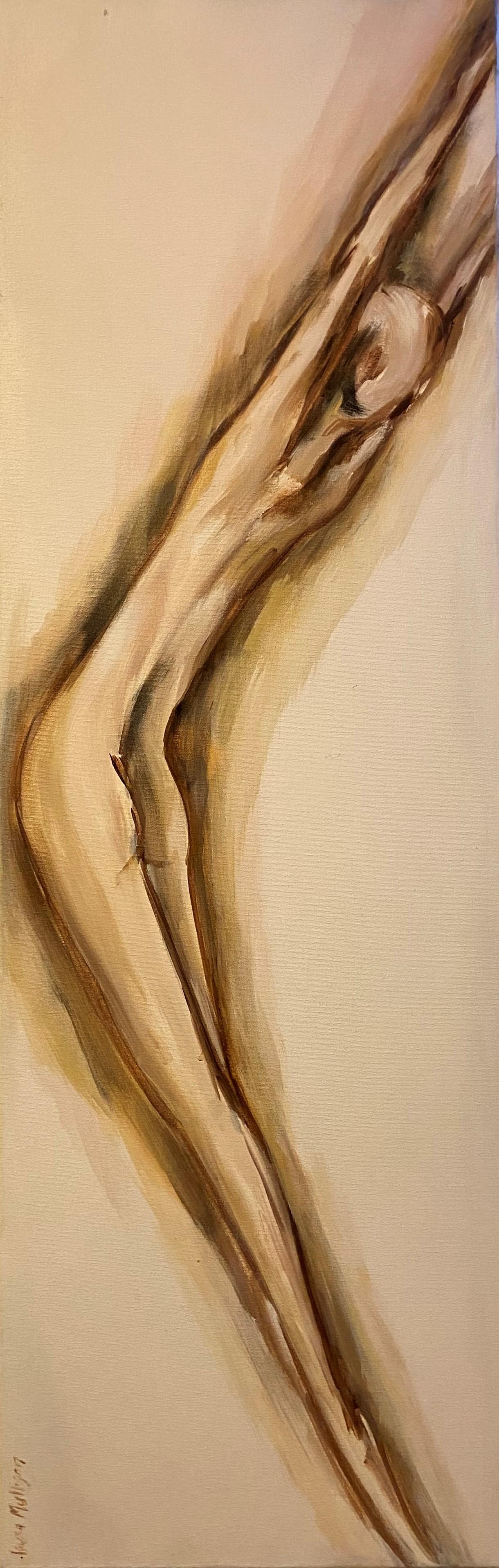 Laura Mulligan, Irish. 21st Century ''Female Nude,'' O.O.C., signed, 48'' x 15 1/2'' (122cms x