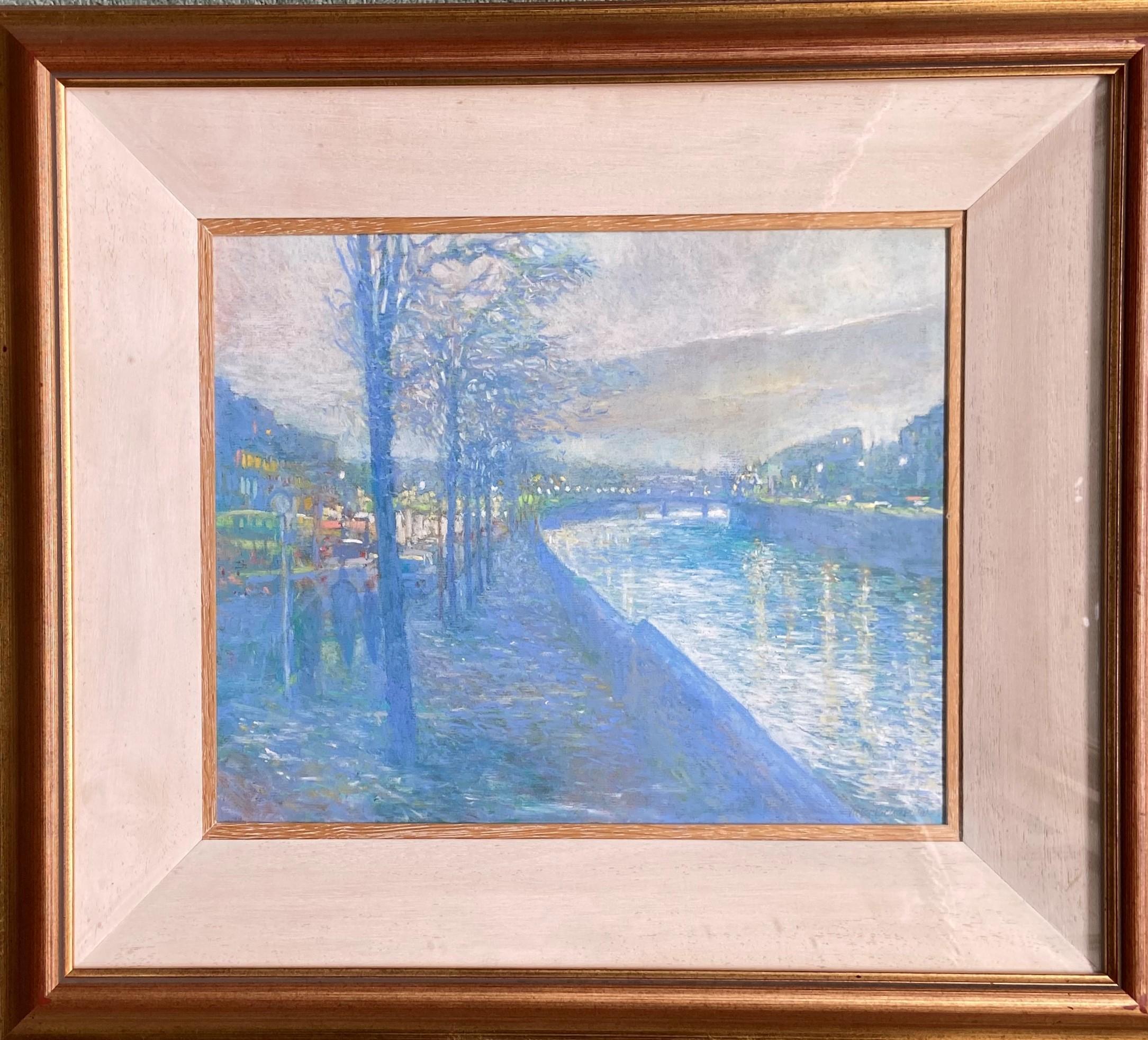 Victor Richardson (1952) ''Dusk on the Liffey'' and ''Dock Gates from Baggot St., Bridge,'' a