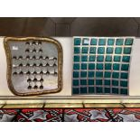 An Art Metal Table Game by David Marshall, signed on base, together with an aluminium Art Bowl. (2)