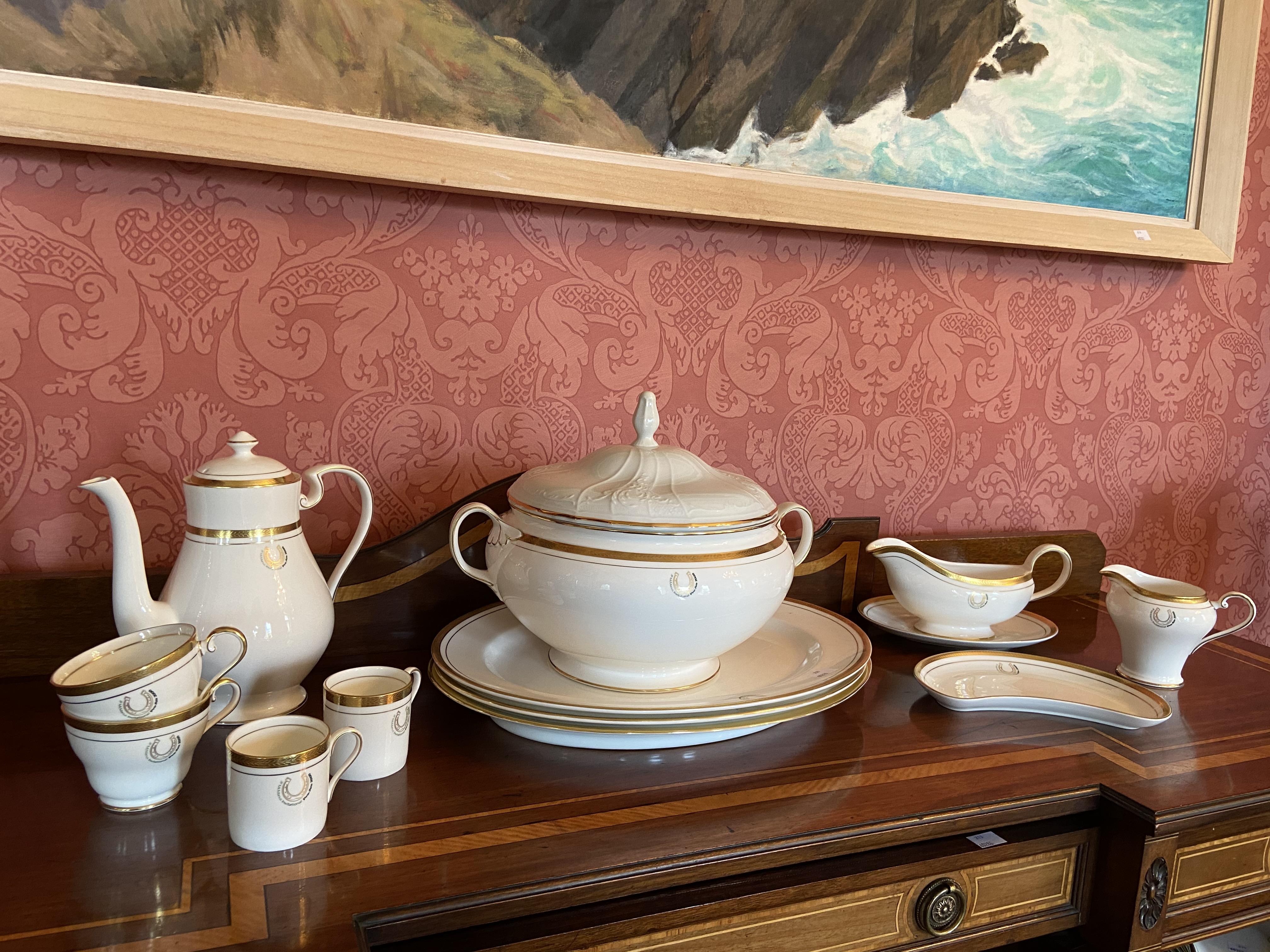 A fine Belleek Presentation Dinner, Tea, Coffee Service By Aynsley