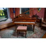 A Baby Grand Piano, in mahogany case, by Challen & Son, London, with 48'' (122cms) keyboard, 39''h x
