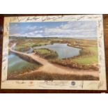 Golf Memorabilia: A collection of framed Itemsof various Pro Am and other events, including a