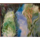Micke Vanmechelen, 21st Century Abstract, on canvas, 39'' x 47'' (99cms x 119cms). (1)