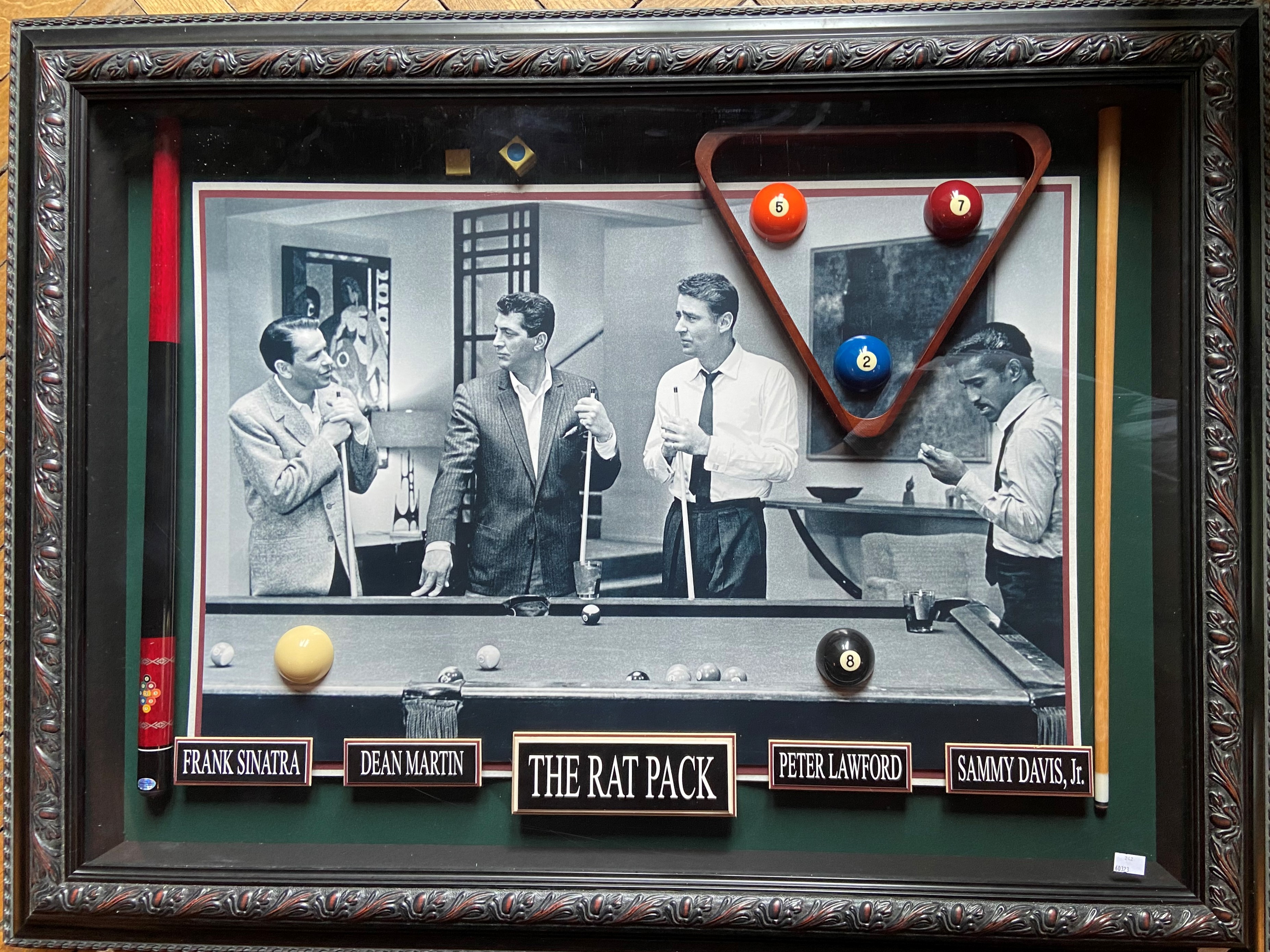 A rare Limited Edition framed ''Rat Pack'' Billiard Room Display, No. 12504 from Millionaire Gallery