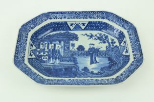 A fine quality blue and white Chinese Xiangshiÿperiod porcelain Serving Dish, of rectangular form