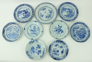Two similar 18th Century Chinese blue and white porcelainÿBowls, of octagonal form decorated with