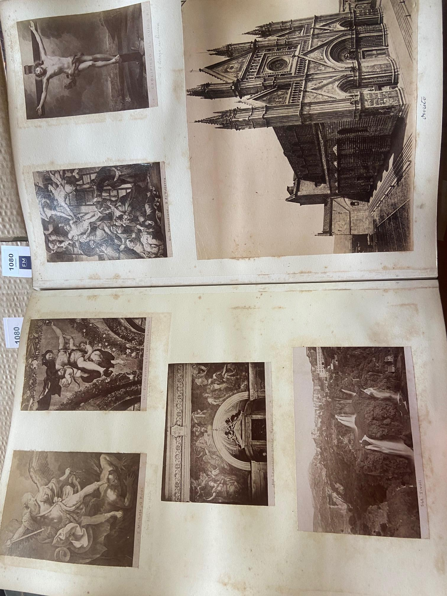 Photographs: Two large folio Albums of Photographs, each c. 1870 - 1890's. One Album contains - Image 29 of 31