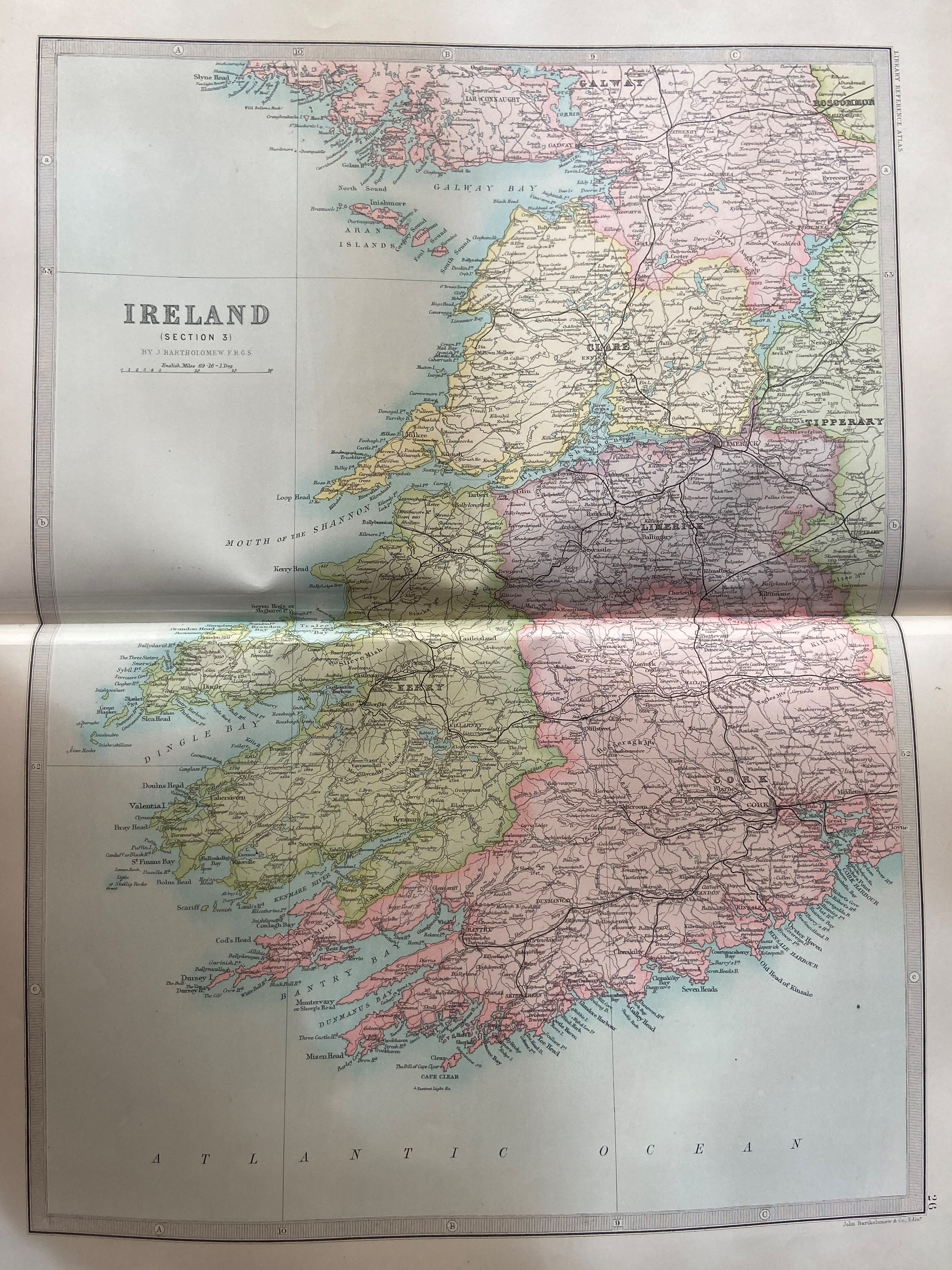 Atlas: Bartholomew (John)The Library Atlas of theWorld, V. lg. folio L. (Macmillan & Co.) 1890. - Image 2 of 2