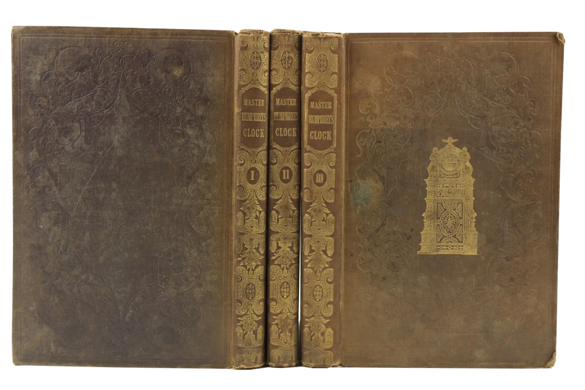 Dickens (Charles)ÿMaster Humphrey's clock, 3 vols. folio L. (Chapman & Hall) 1840.ÿFirst Edn.,