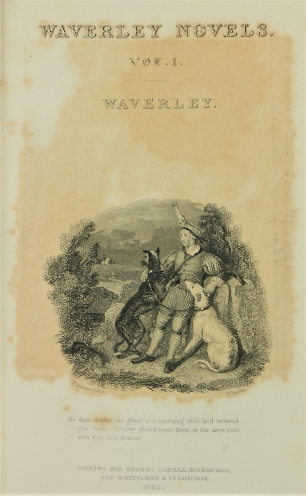 Bindings:ÿ Scott (Sir W.)ÿWaverley Novels, 48 vols. 12mo Edinburgh 1830, Engd. add. titles, - Image 5 of 5