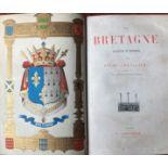Pitre-Chevalier (A.M.)ÿLa Bretagne Ancienne et Moderne, sm. thick folio Paris n.d. Hf. title,