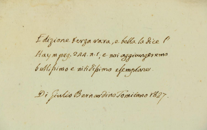 Rota (B.)ÿDelle Rime del S. Berurdino Rota;ÿBound with,ÿDelle Egloghe Pescatorie del S. Berardino - Image 3 of 5