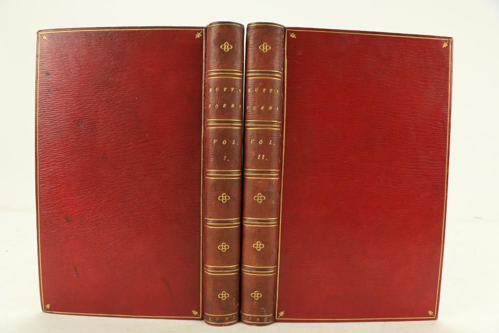 Binding by C. Kalthoeber Binding: Butt (George)Poems, 8vo Kidderminster (G. Gower) 1793. Printed