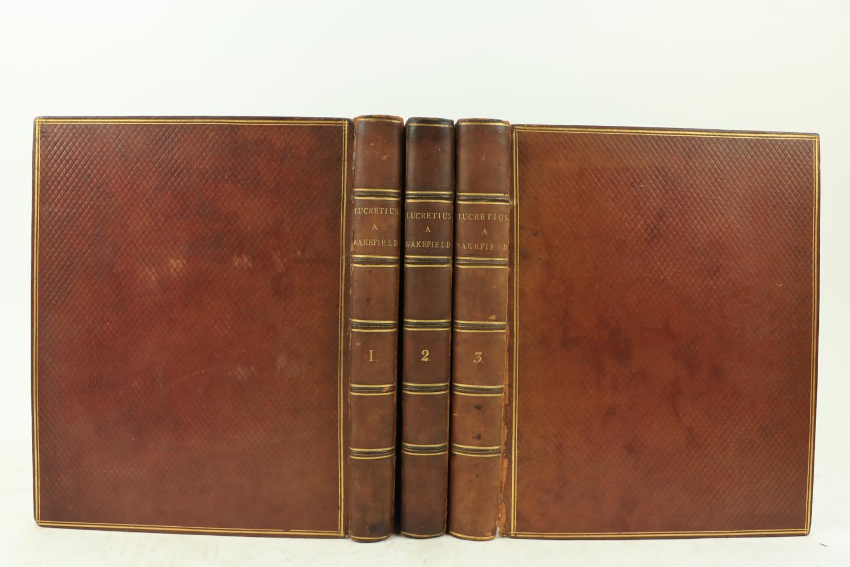Wakefield (Gilbert)ÿÿT. Lucretii Cari de Rerum Natura Libros Sex,... et Cum Animadversionibus