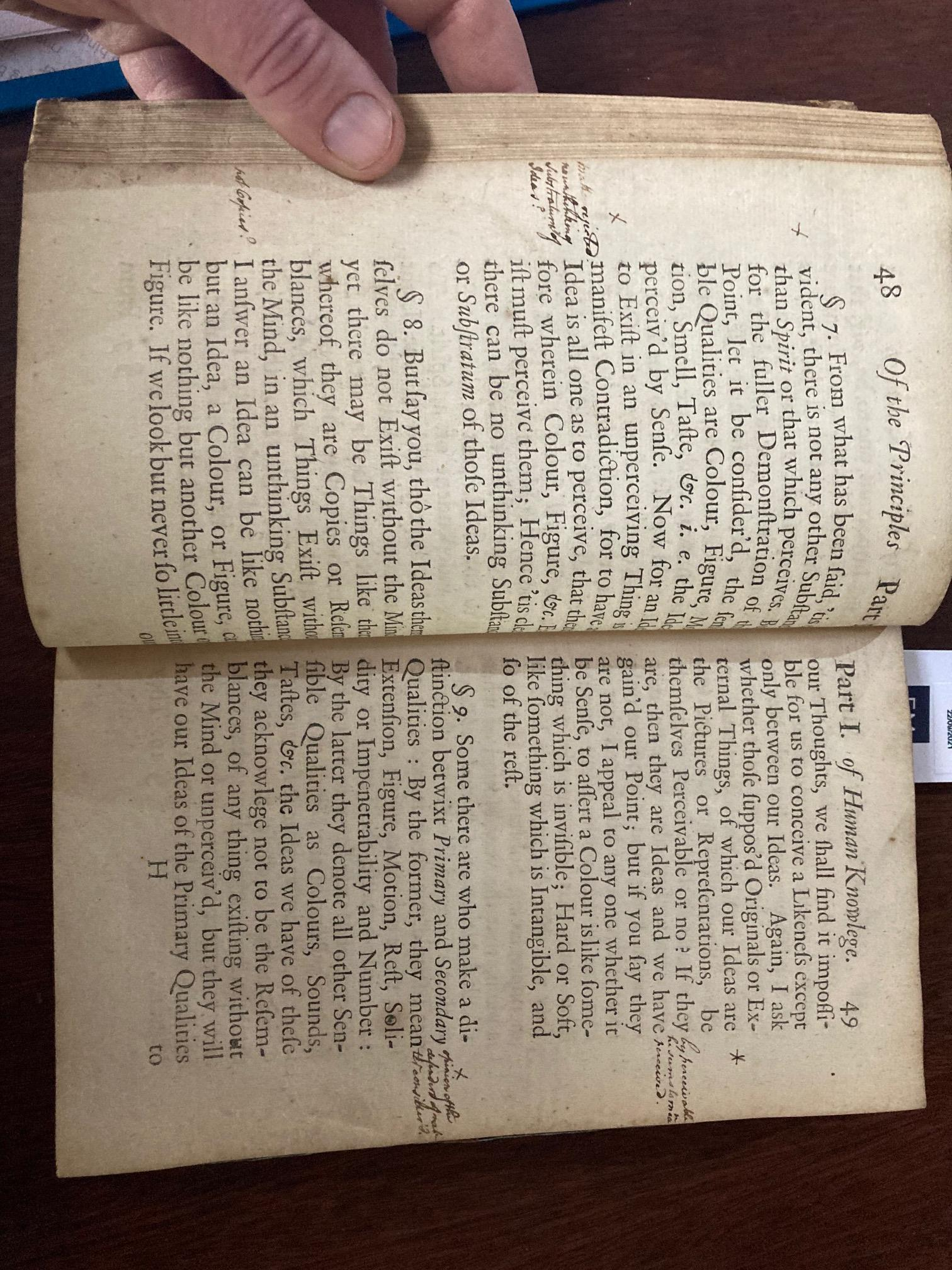 The Key Book for any Berkeley Collection Berkeley (George)ÿA Treatise Concerningÿthe principles of - Image 10 of 20