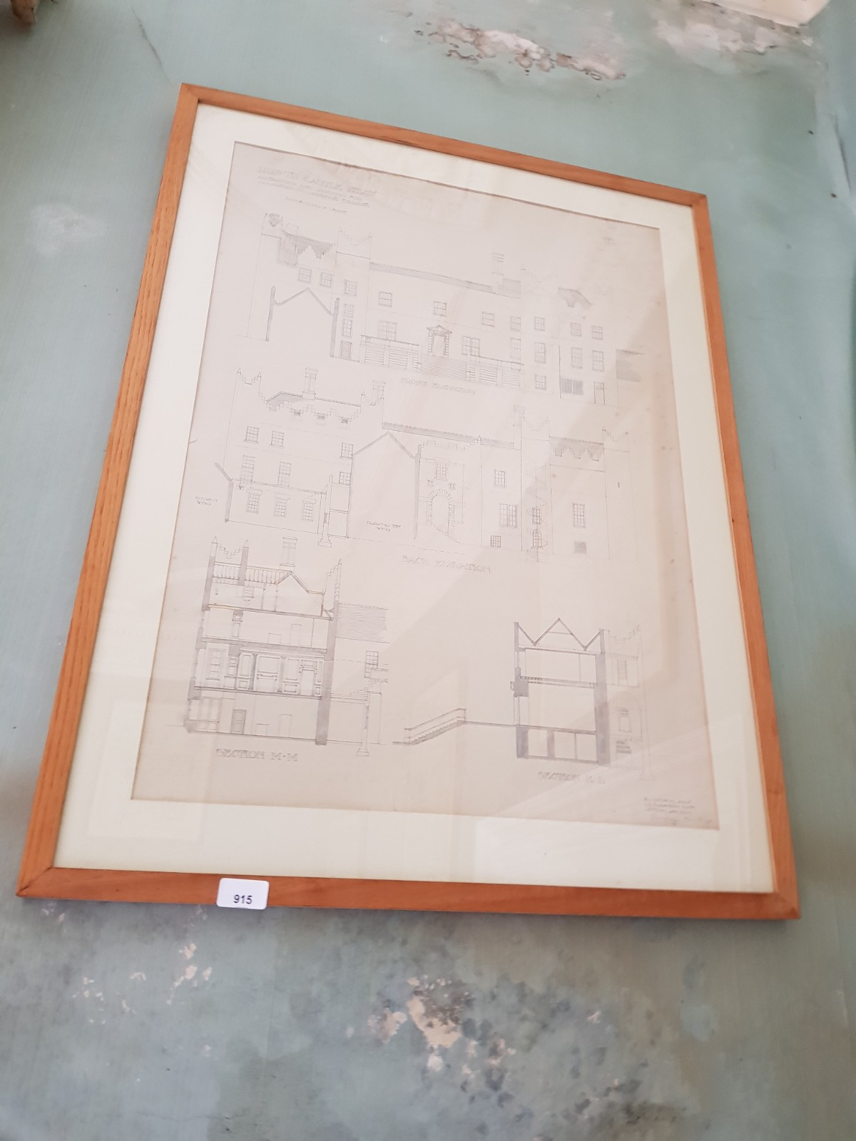 Sir Edward L. Lutyens 1869 - 1944 Howth Castle Plans: A Series of 10 Prototype Architect Drawings - Image 5 of 6