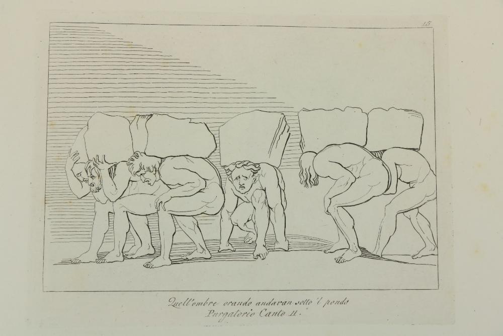 Flaxman Illustrations Dante -La Divina Comeodia di Dante Alighieri cioe l'Inferno, il Purgatorio, - Image 3 of 4