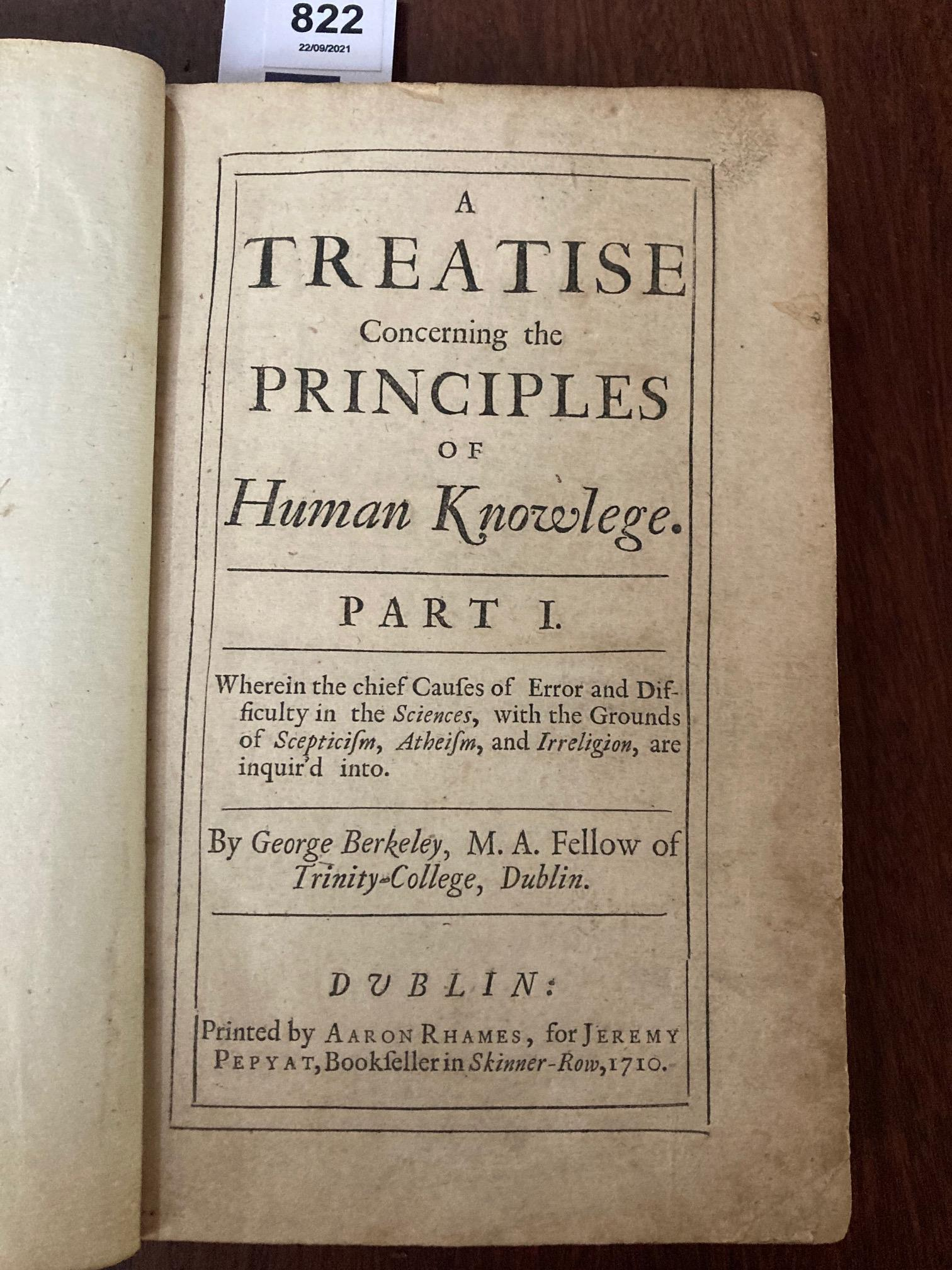 The Key Book for any Berkeley Collection Berkeley (George)ÿA Treatise Concerningÿthe principles of - Image 16 of 20