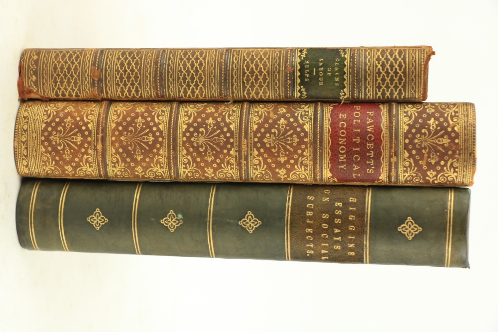Fawcett (Henry)Manual of Political Economy, 8vo L. (Macmillan) 1869.Third Edn., hf. title, cont.