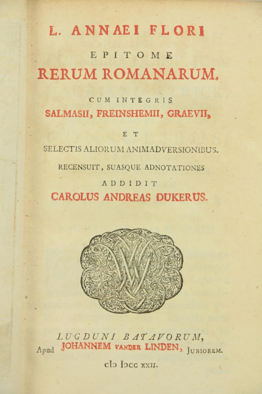 Armorial Bindings:ÿ Havercampi (Sigeberti)Ed.ÿÿQ. Septimii Florentis Tertulliani, Carthaginiensis - Image 2 of 3